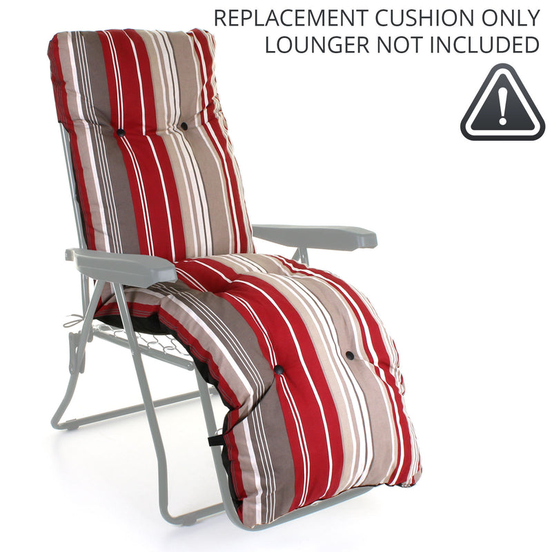 Sun Lounger CUSHION ONLY - Red Stripes