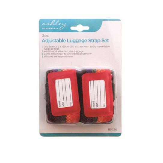 Adjustable Luggage Strap Set 2pc