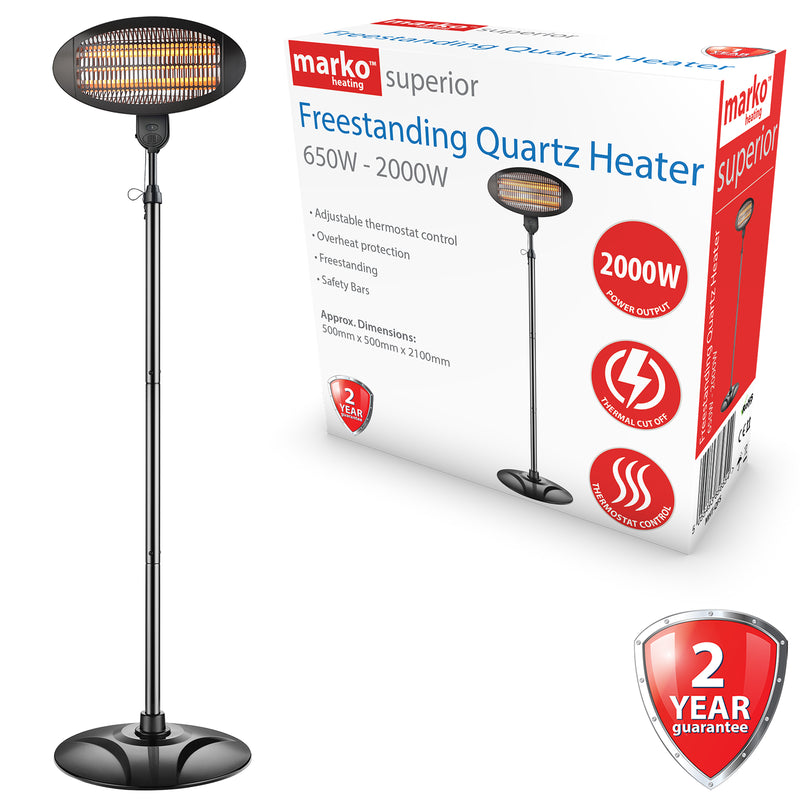 Freestanding Quartz Patio Heater