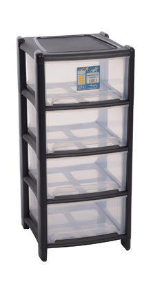 Deep 4 Drawer Unit Graphite/Clear Item