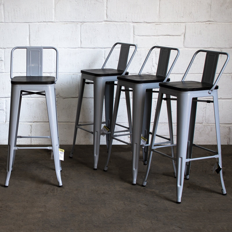 Milan Bar Stool - Pale Grey