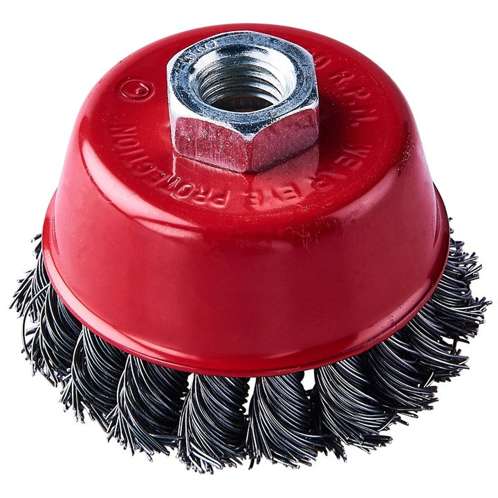 "3"" (80mm) Twist Knot Wire Cup Brush"
