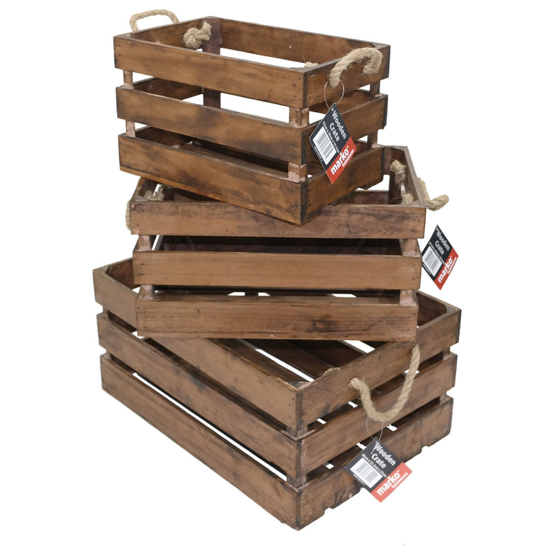 Wooden Crates - Deep Chestnut