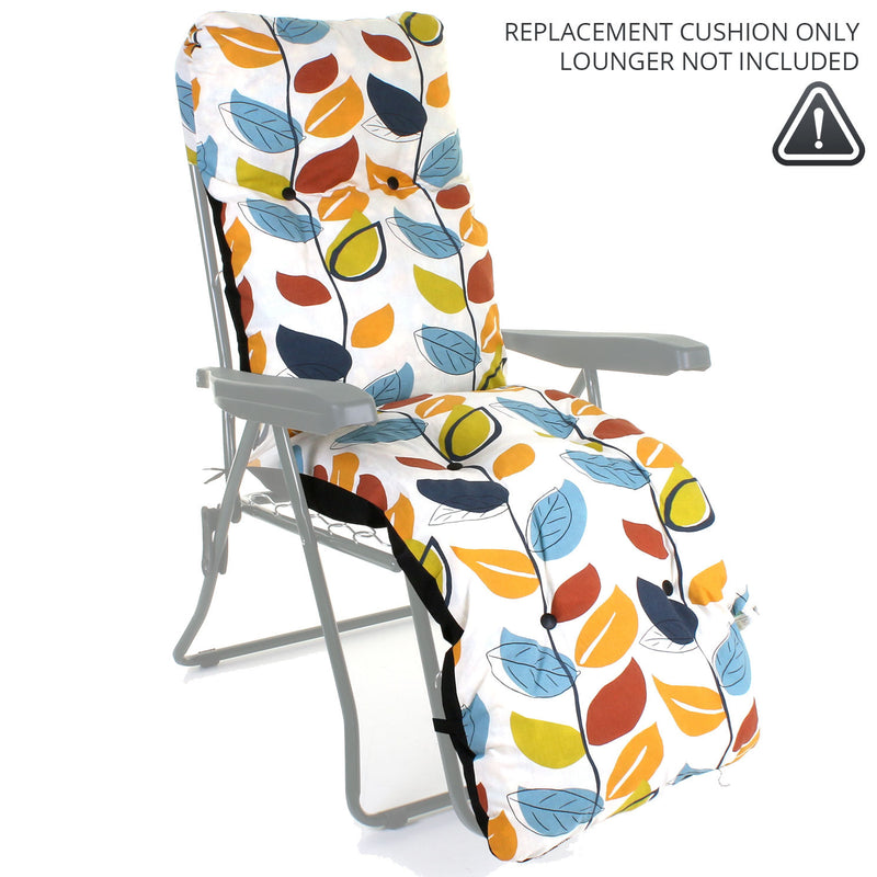 Sun Lounger CUSHION ONLY - Leaves