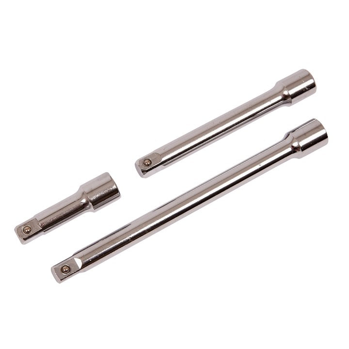 "3pc 1/2""Drive  75, 150, 225mm  Extension Bar Set"