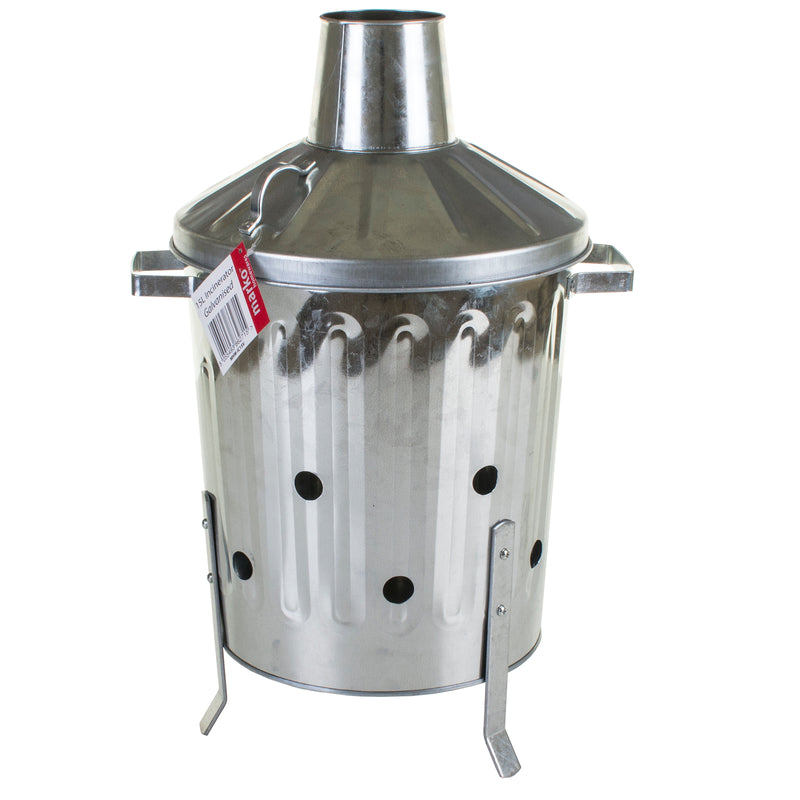 15L Galvanised Metal Incinerator