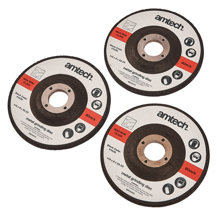 3pc 115mm Metal Grinding Disc