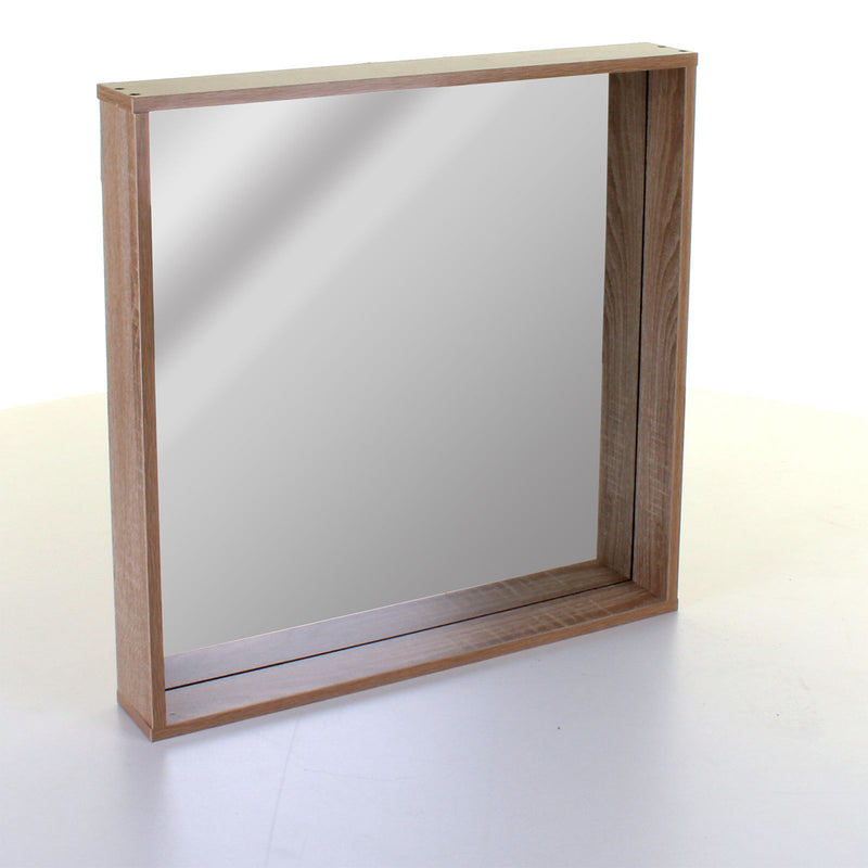 Wood Effect Recessed Mirror