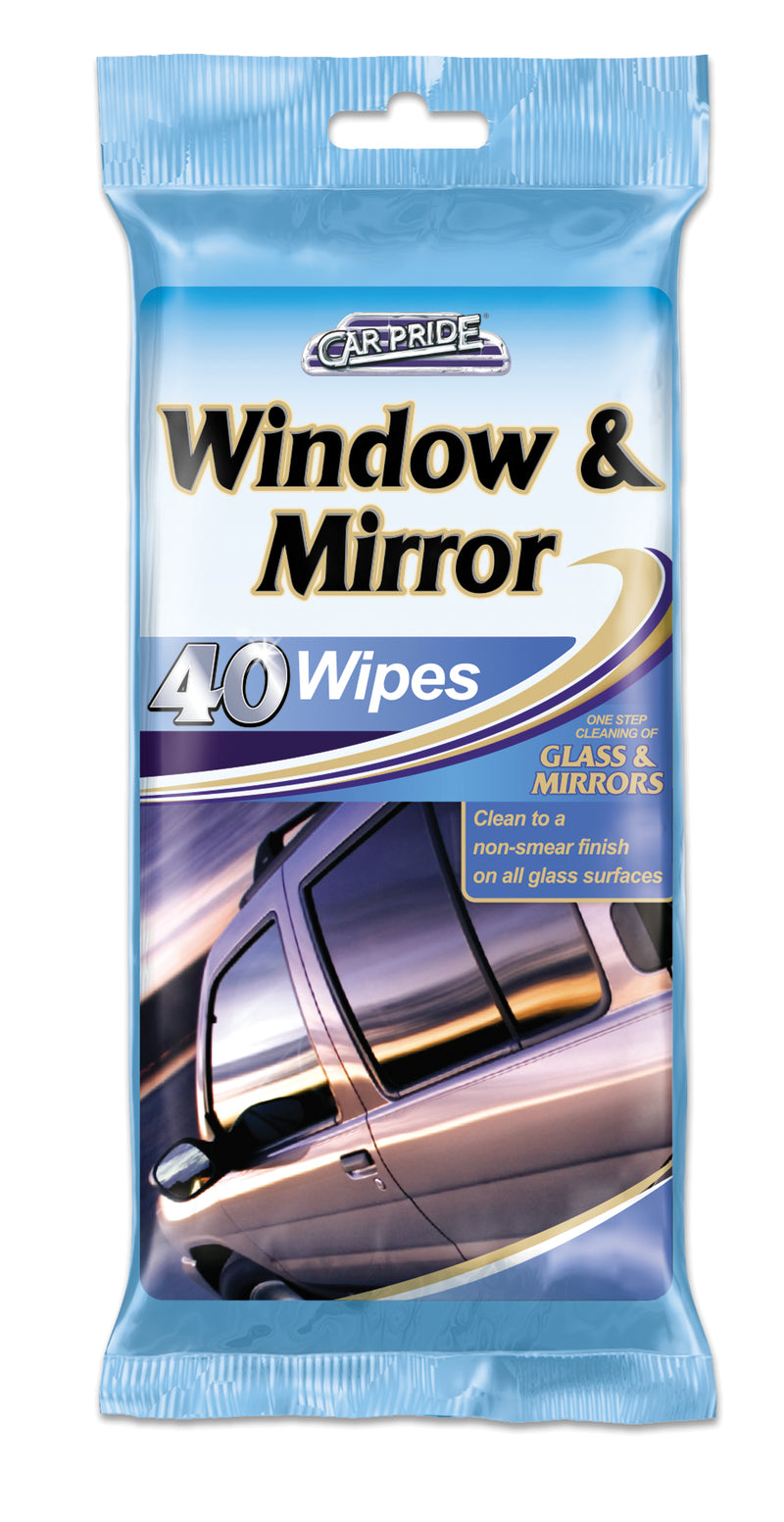 Window and Mirror Wipes 40pk