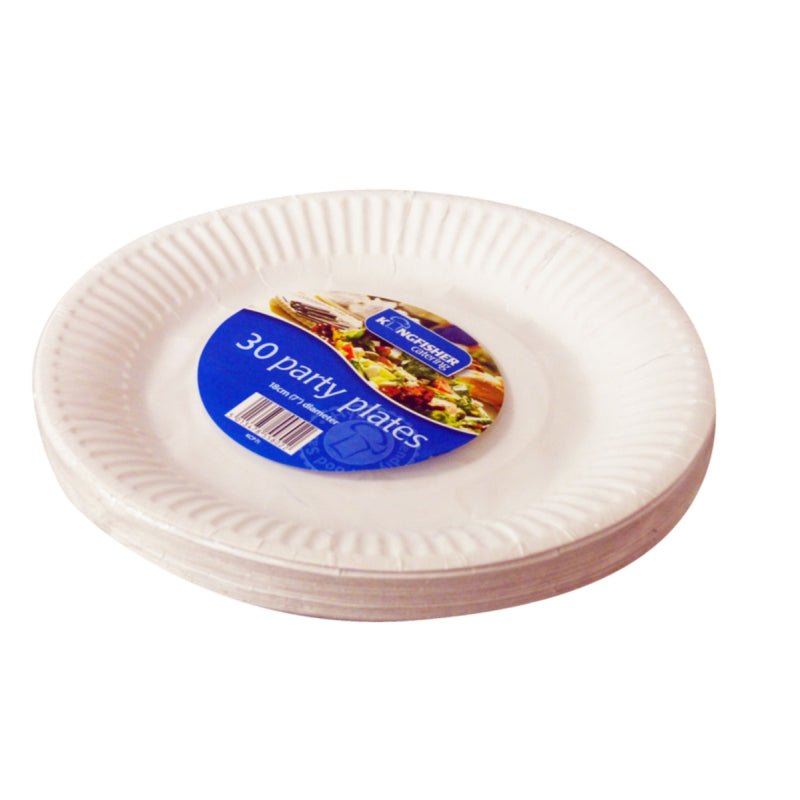 White Disposable Plates 30pk