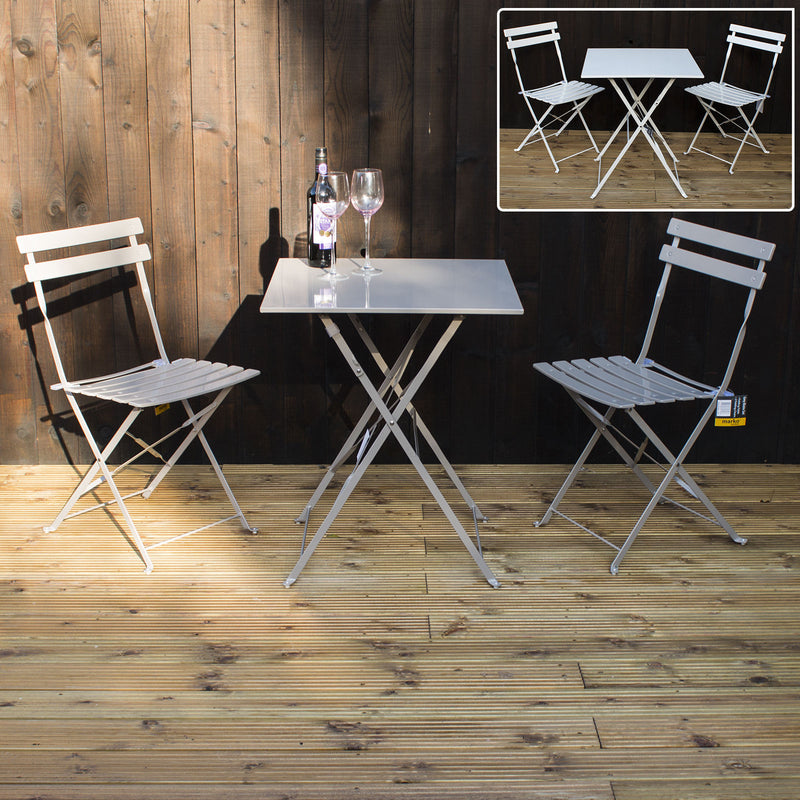 3pc Folding Square Bistro Set