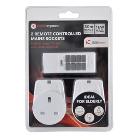 Remote Controlled Sockets 1KW 2pk