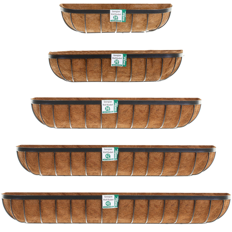 Rectangular Georgian Wall Baskets