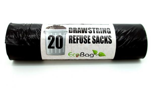 20 DRAWSTRING REFUSE SACKS  LITRES 80 Box Of  15 for £39.99