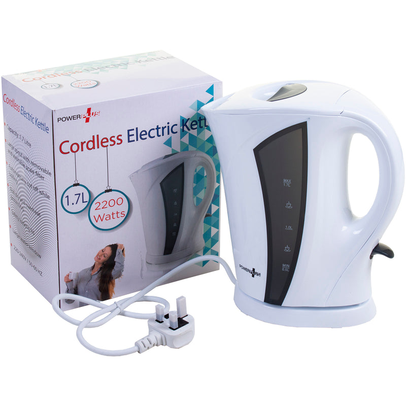 2200W 1.7L Cordless Electric Kettle White