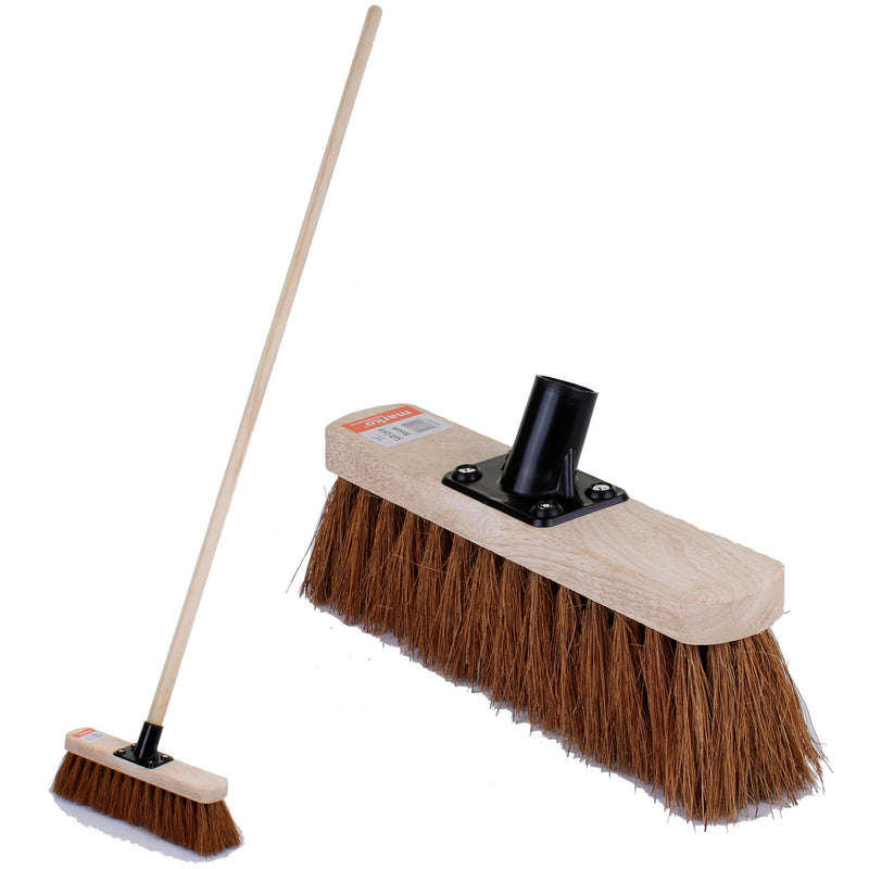 "11"" Soft Coco Broom with Handle"