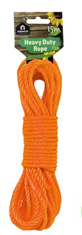 Red Polypropylene Rope 15m