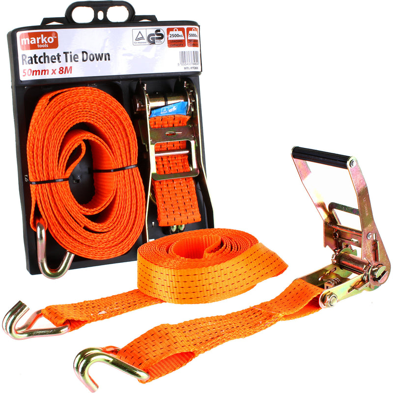 Ratchet Tie Down - 50mm x 8M