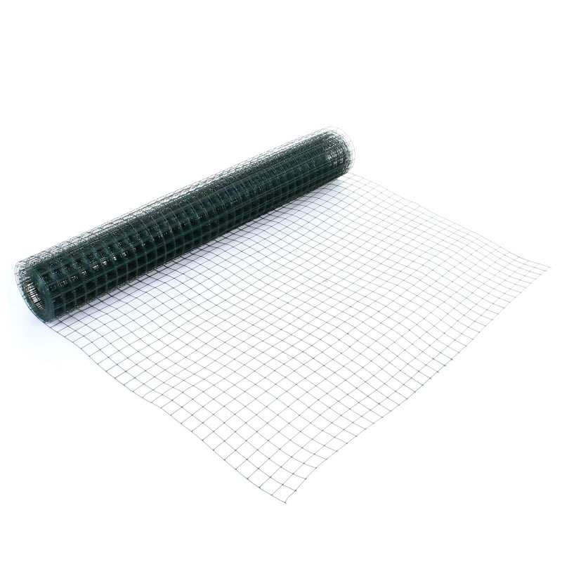 Green PVC Coated Mesh - 0.9M x 6M