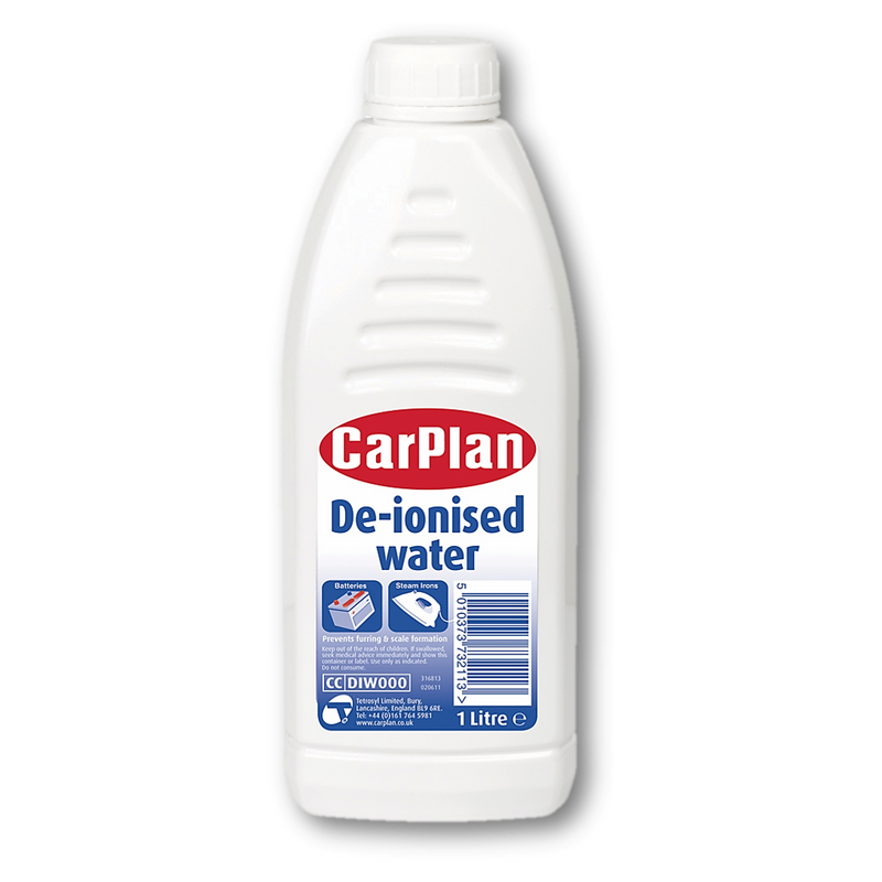 CarPlan De-Ionised Water-1 Litre