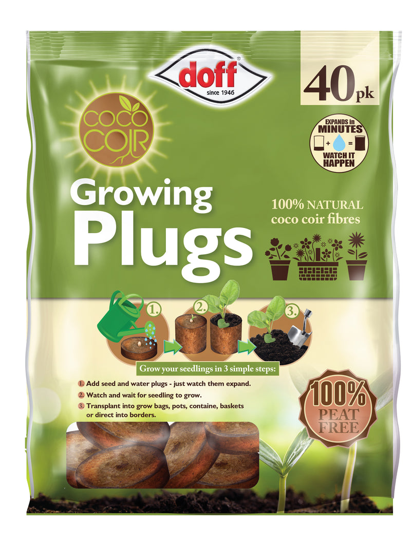 Coco Coir Growing Plugs 40pk