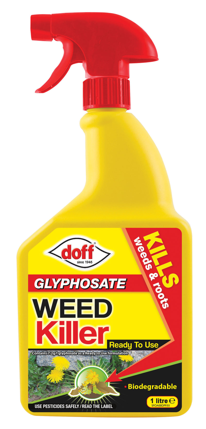Doff Advanced Weedkiller Ready to Use 1L Spray Bottle