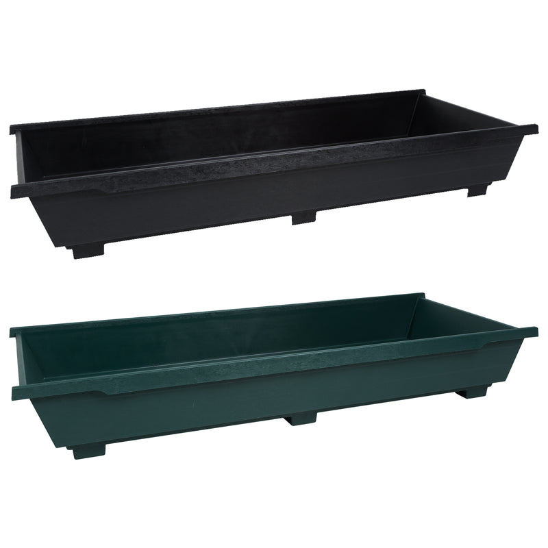 Grow Bag Trays Green and Black