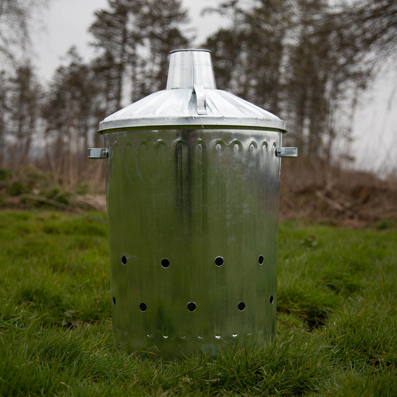 90L Galvanised Metal Incinerator