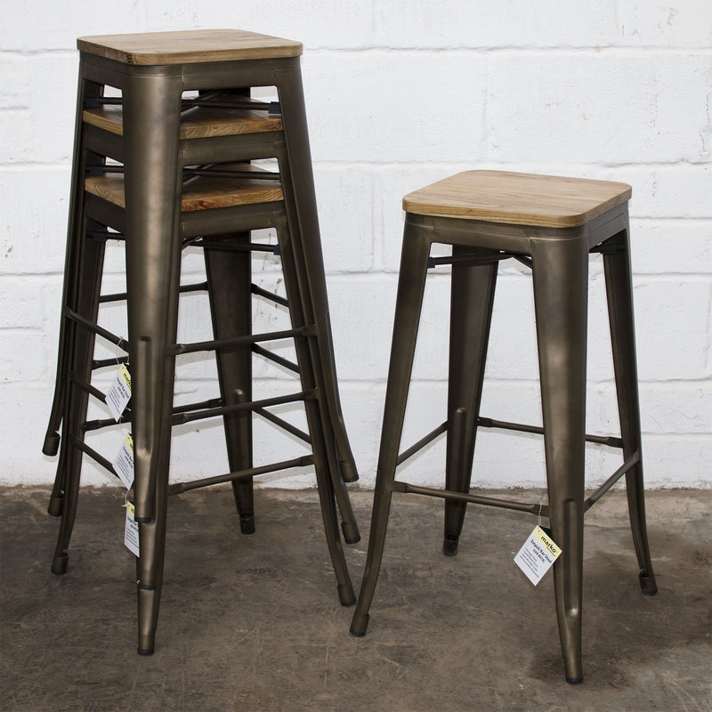 Firenze Stools - Gun Metal Grey