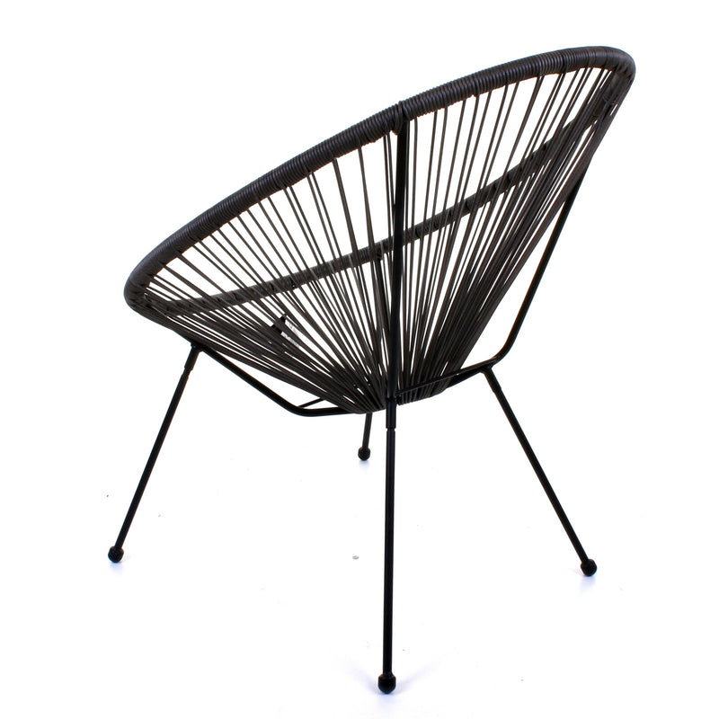 Rattan Egg Chair - Grey