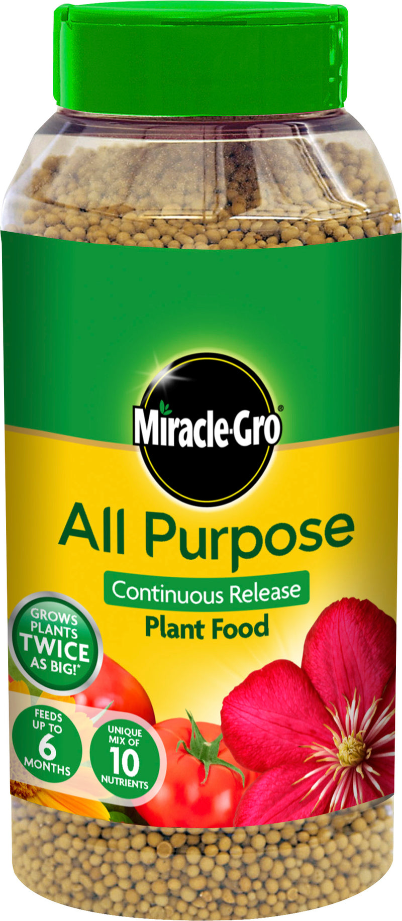 Miracle-Gro All Purpose Continuous Release Plant Food 1KG Shaker Jar XXXX