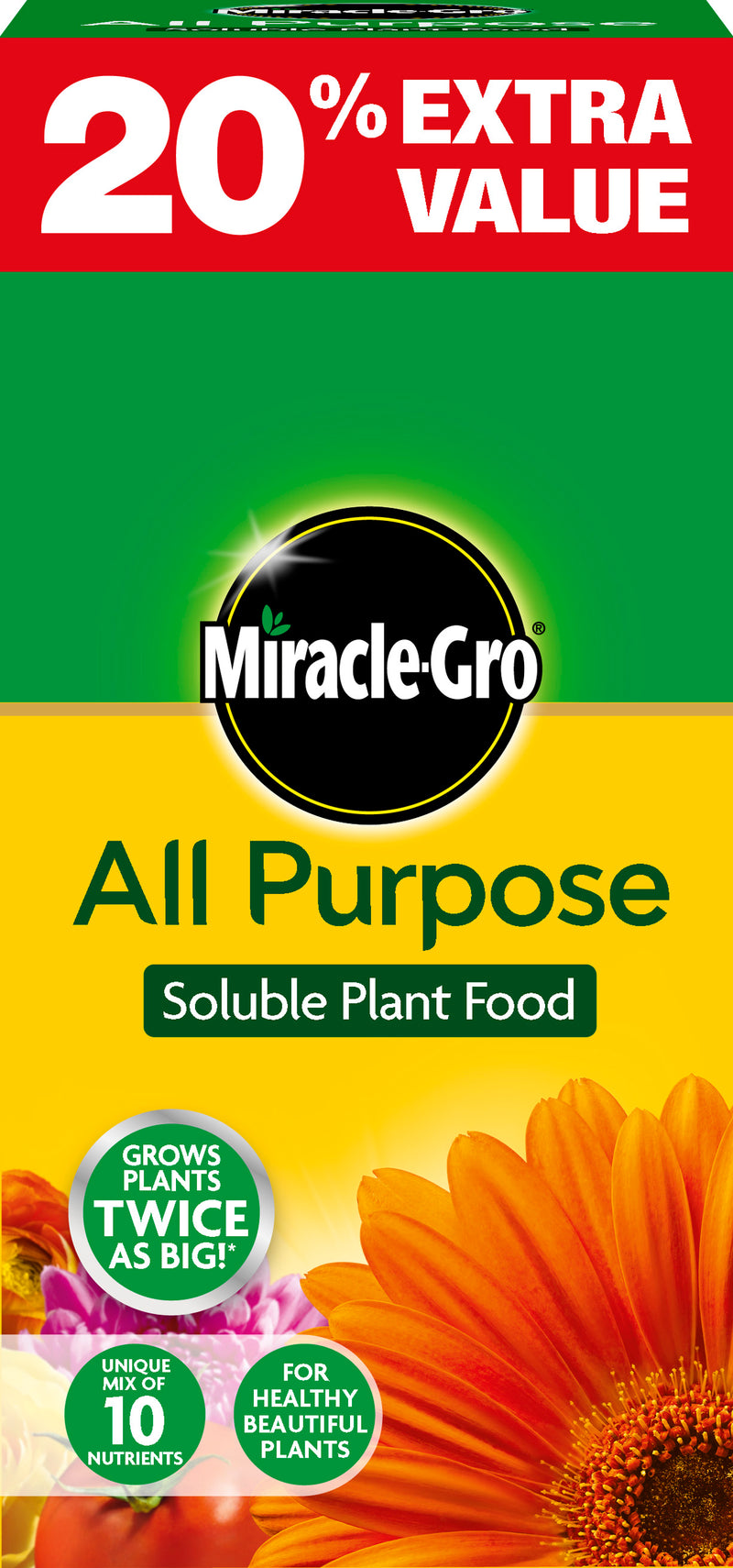 Miracle Gro All purpose Soluble Plant Food 1kg 20% FREE