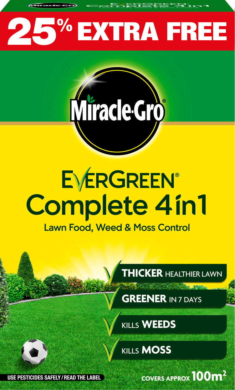Miracle Gro® Evergreen® Complete 4 in 1 with unique WaterSmart™  3.5KG plus 25% free 100 sqm