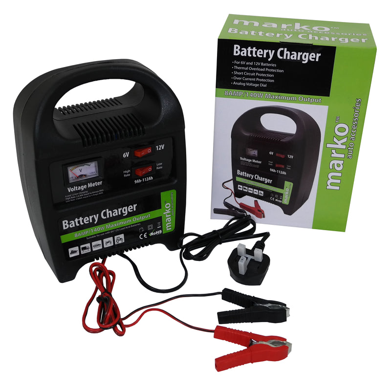 8AMP 6V/12V Battery Charger