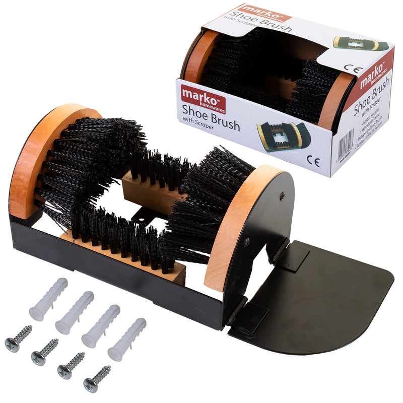 Fixed Shoe Brush Cleaner
