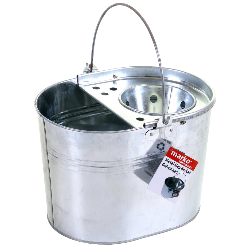 Galvanised Metal Mop Bucket