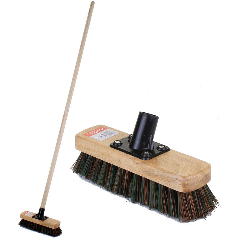 "9"" Stiff Deck Broom with Handle"