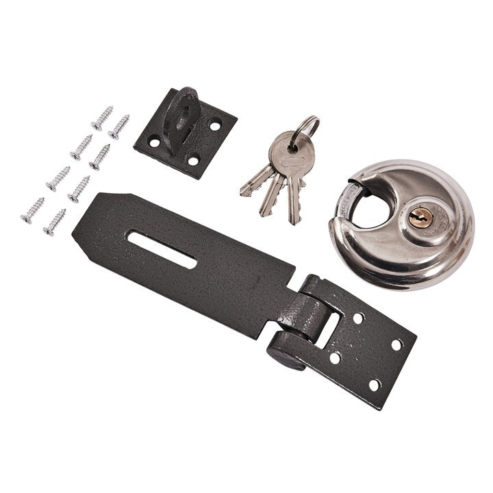70mm Disc Padlock With Hasp