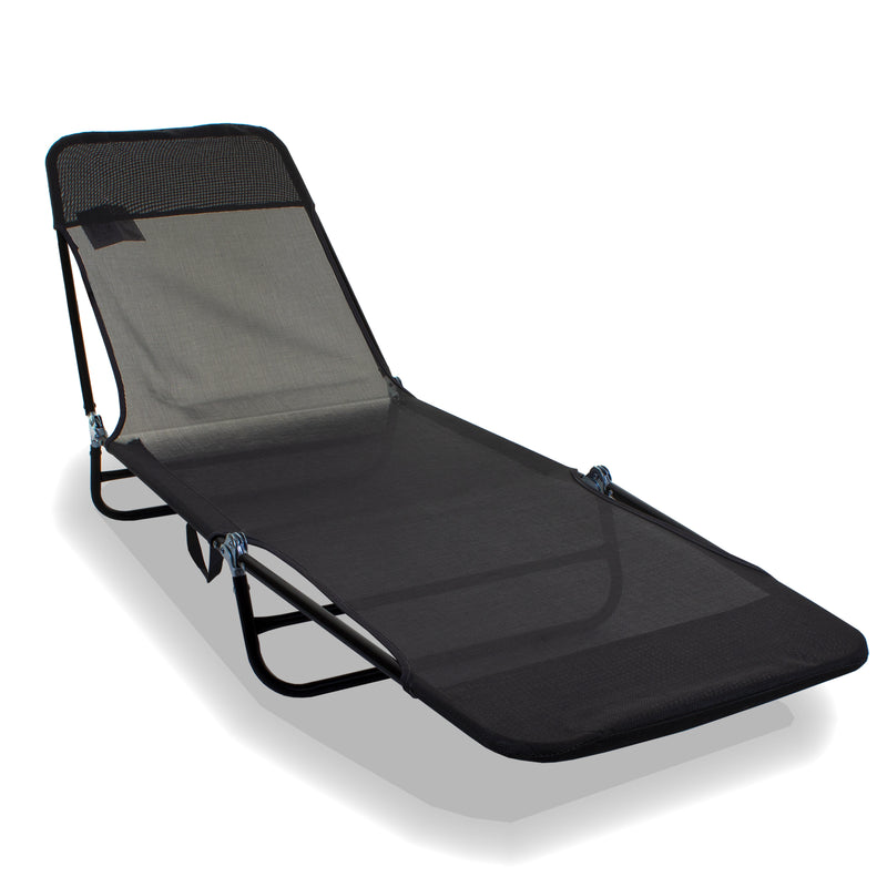 Go Flat Sun Lounger - Grey