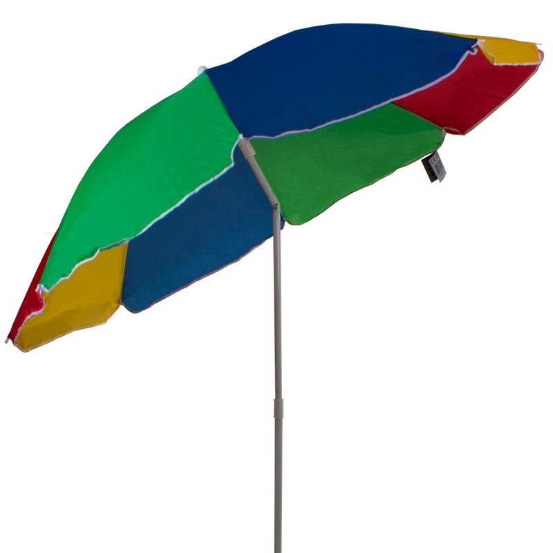 1.6M Multi Coloured Beach Umbrella