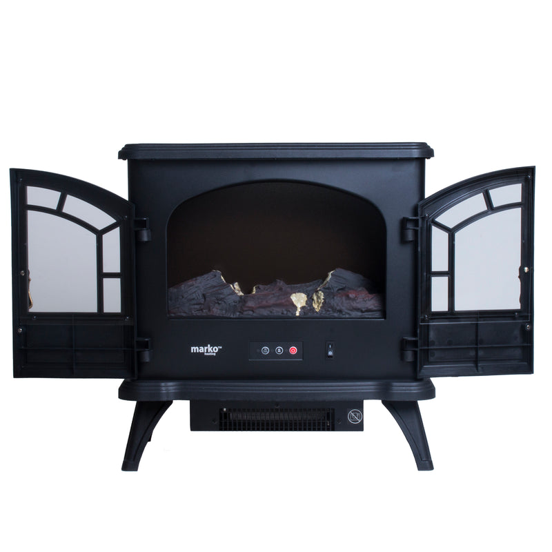 1800W Double Door Fireplace