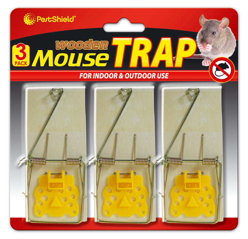 Mouse Trap Wooden 3pk