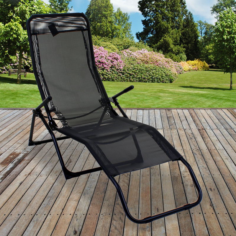 Grey Rocker Lounger