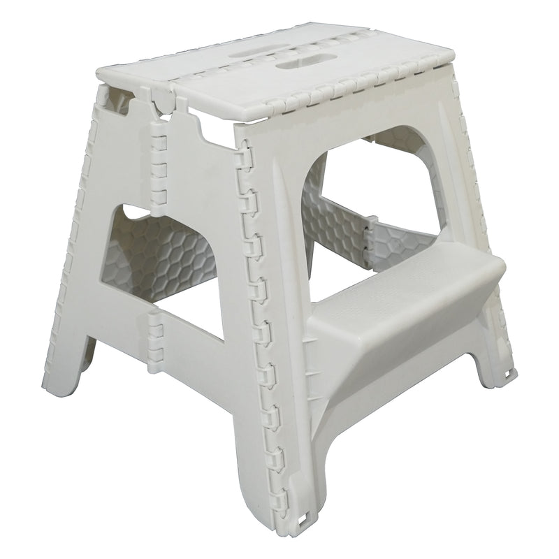 White 2 Step Folding Stool