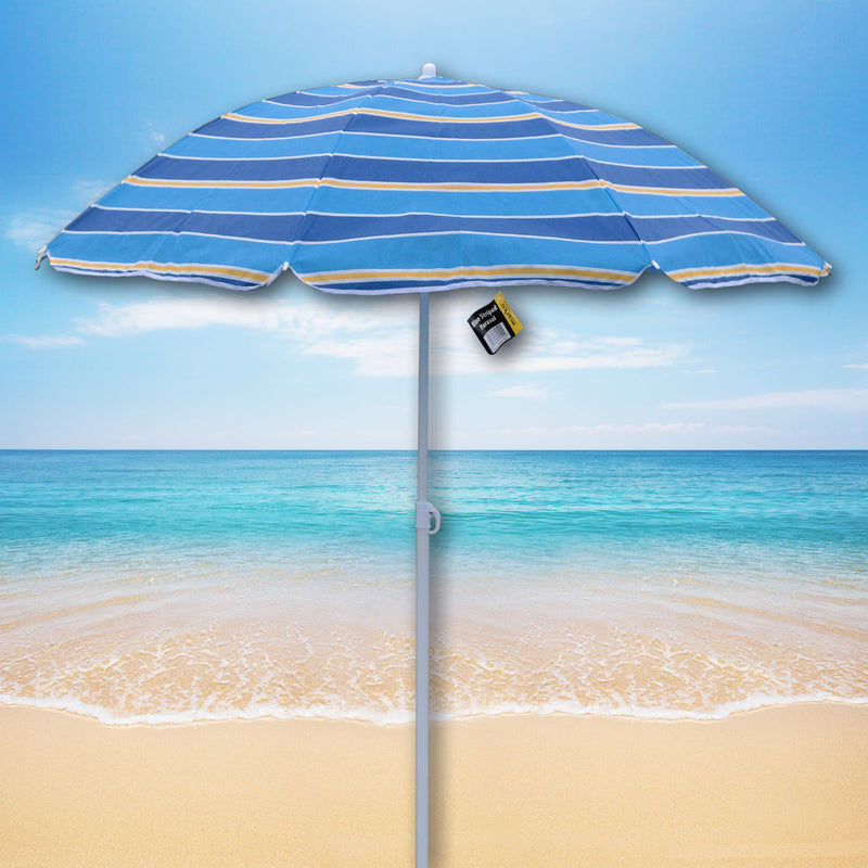 Blue Striped TNT Parasol