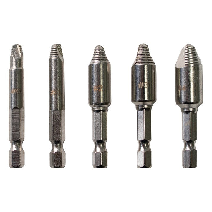 5pc Cross Head Screw Remover Set