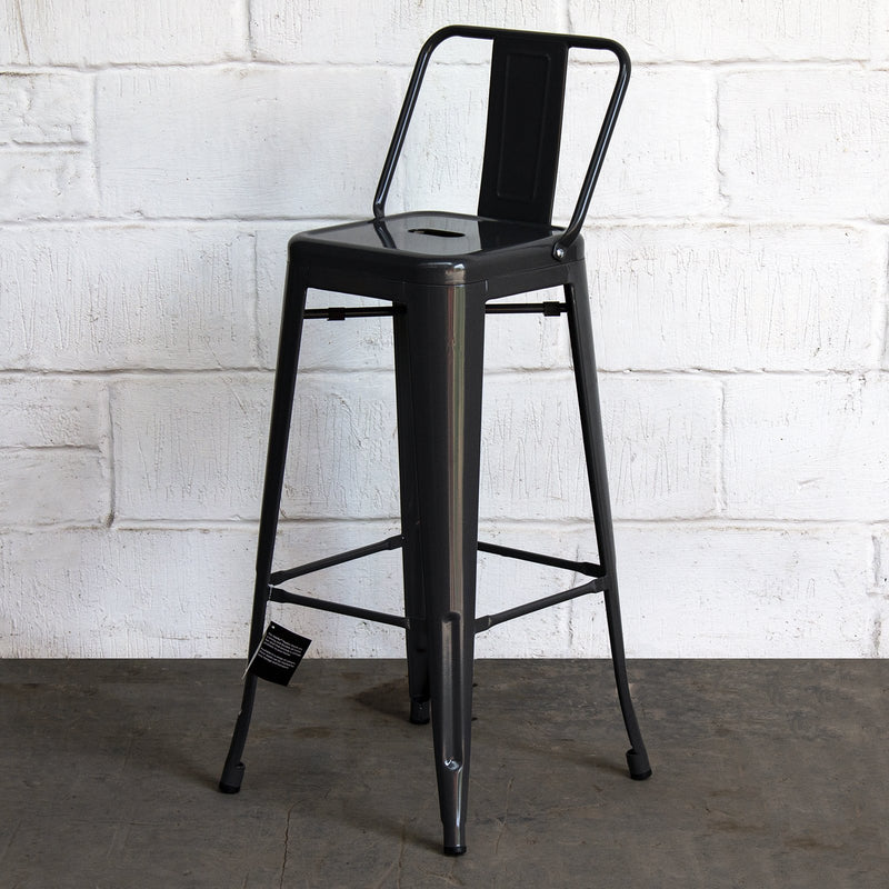 Naples Bar Stool - Graphite Grey