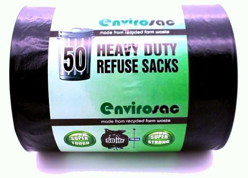 50 HEAVY DUTY REFUSE SACK LITERS 60 Box Of 8 For £36.99