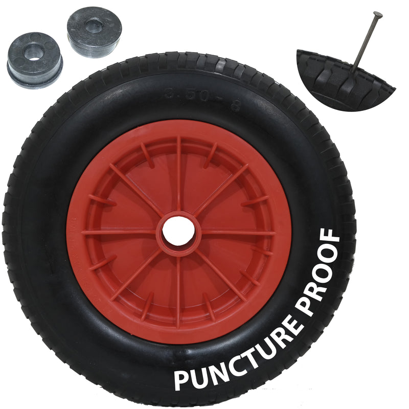 "14"" Red Puncture Proof Wheel"