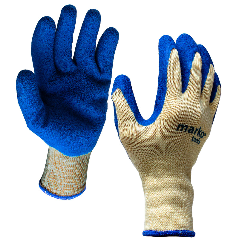 Blue Coated Work Gloves